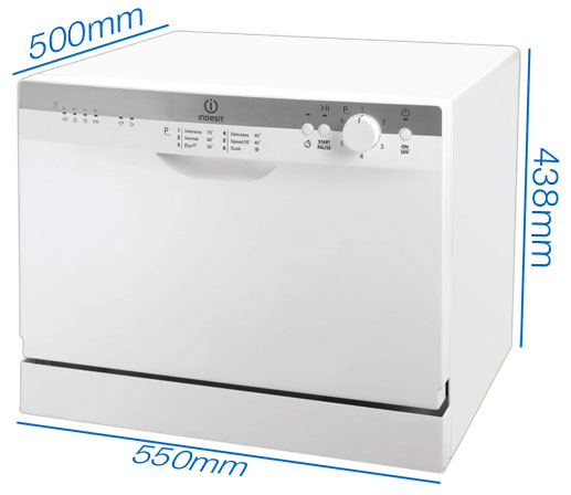 Compact table top dishwasher