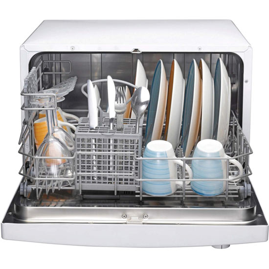 High Quality Compact Indesit Dishwasher, Space For 6 Place Settings
