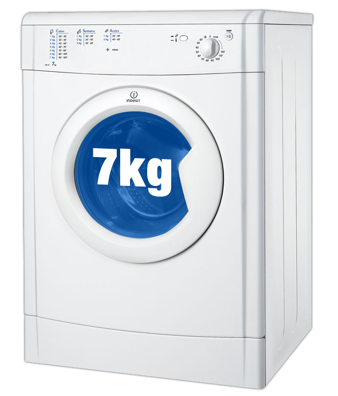 indesit idv75 7kg freestanding vented tumble dryer white appliances direct. Black Bedroom Furniture Sets. Home Design Ideas