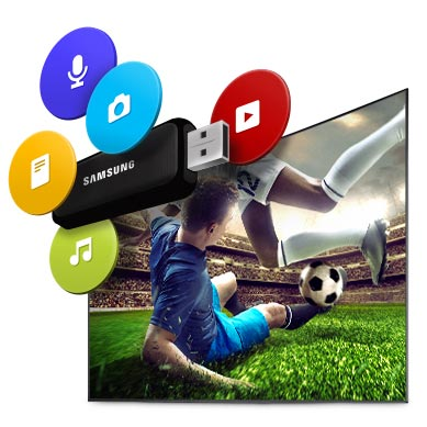 Personalise your viewing, plug in USB or HDD to watch on big screen