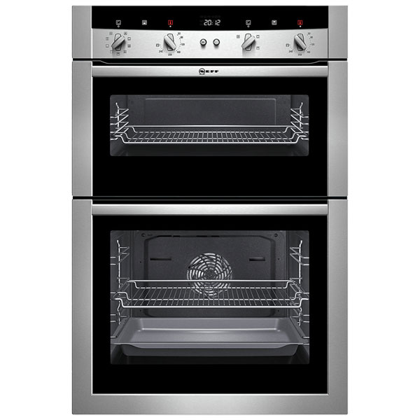 neff u15m52n3gb electric built in double oven stainless. Black Bedroom Furniture Sets. Home Design Ideas