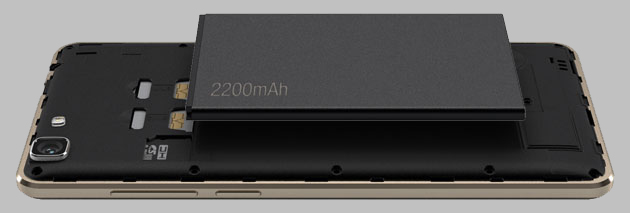 Powerful 2200mAh battery
