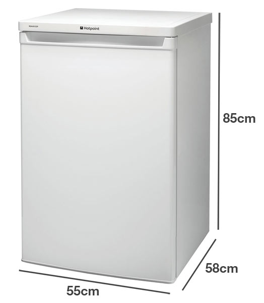 Hotpoint RSAAV22P1 compact under counter fridge
