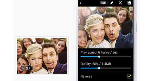 Samsung Galaxy A3 fun selfie experience with animated GIFs