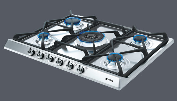 Smeg SE70SGH-5 Classic stainless steel gas hob with 5 burners