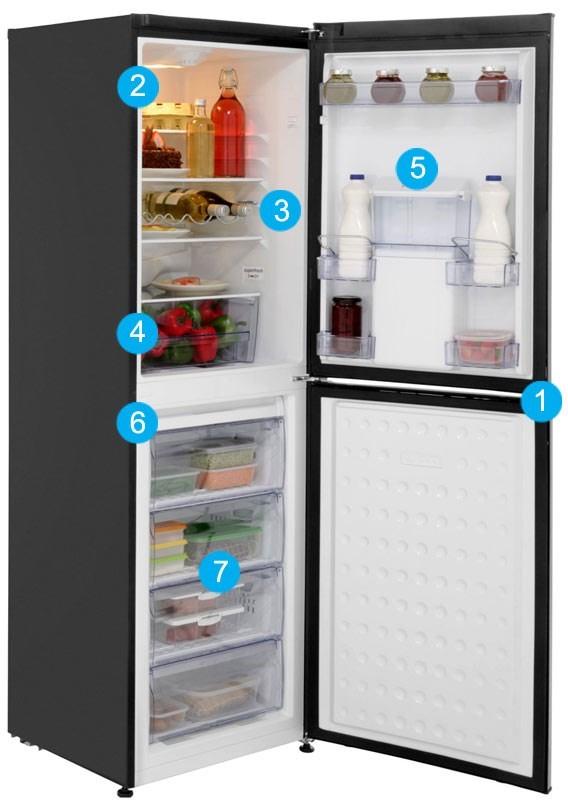 beko cfd6914apb 60cm family sized freestanding fridge. Black Bedroom Furniture Sets. Home Design Ideas