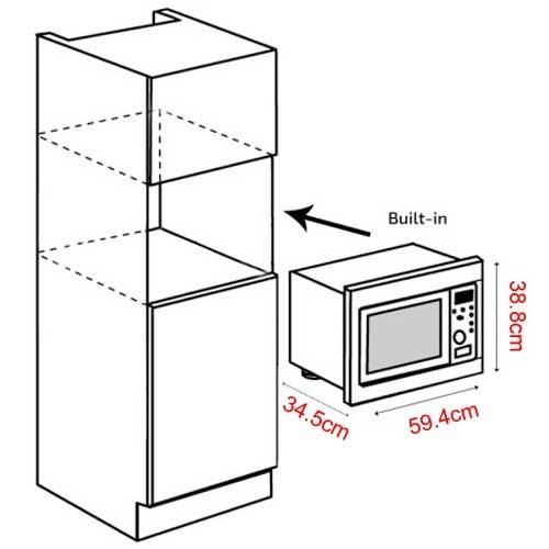 Fabulous Standard Built In Microwave Size Nr32 Roccommunity