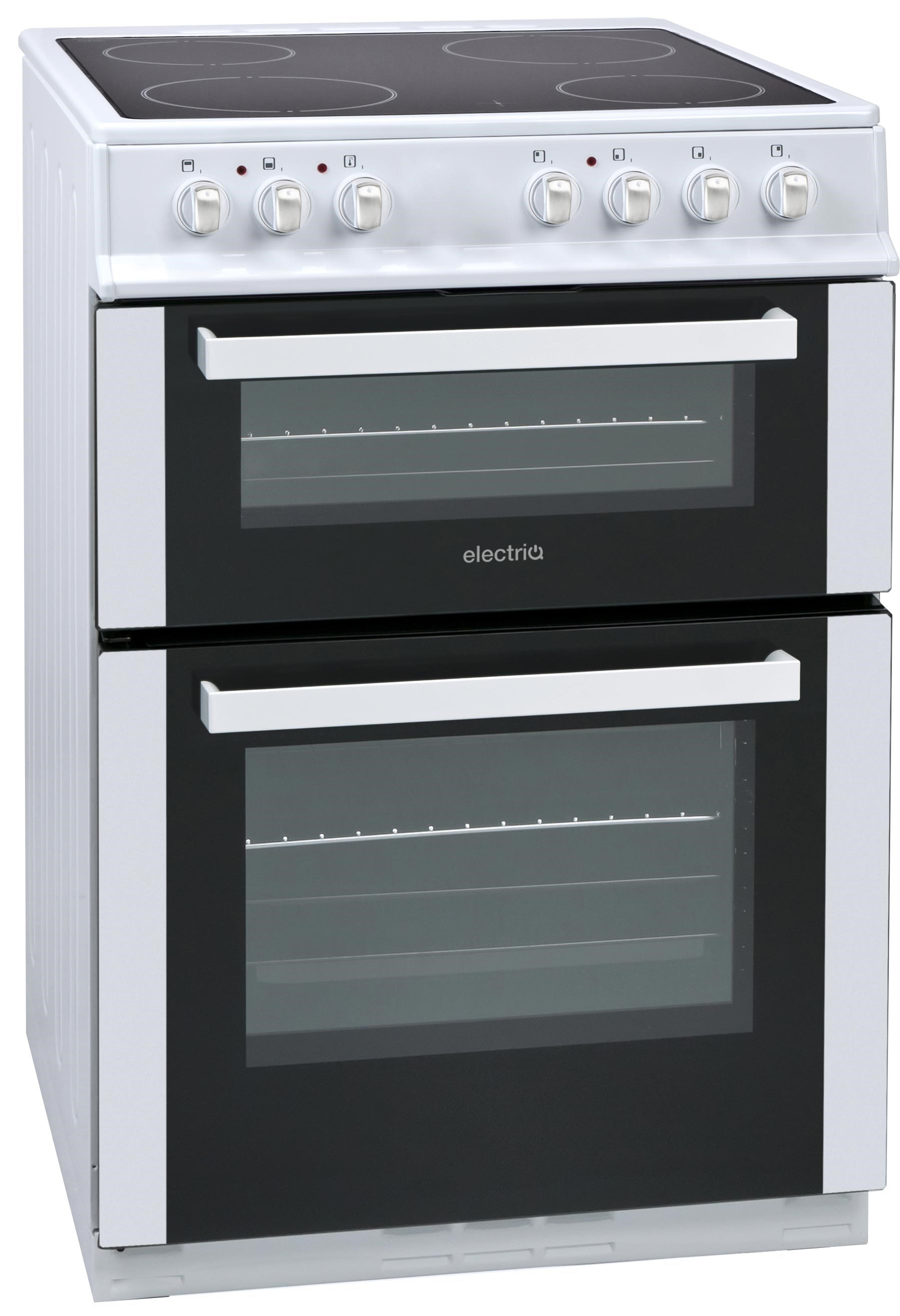 eqec5w60 white ceramic hob cooker