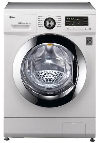 lg f1296tda 6 motion direct drive 8kg 1200rpm freestanding washing machine white appliances direct. Black Bedroom Furniture Sets. Home Design Ideas
