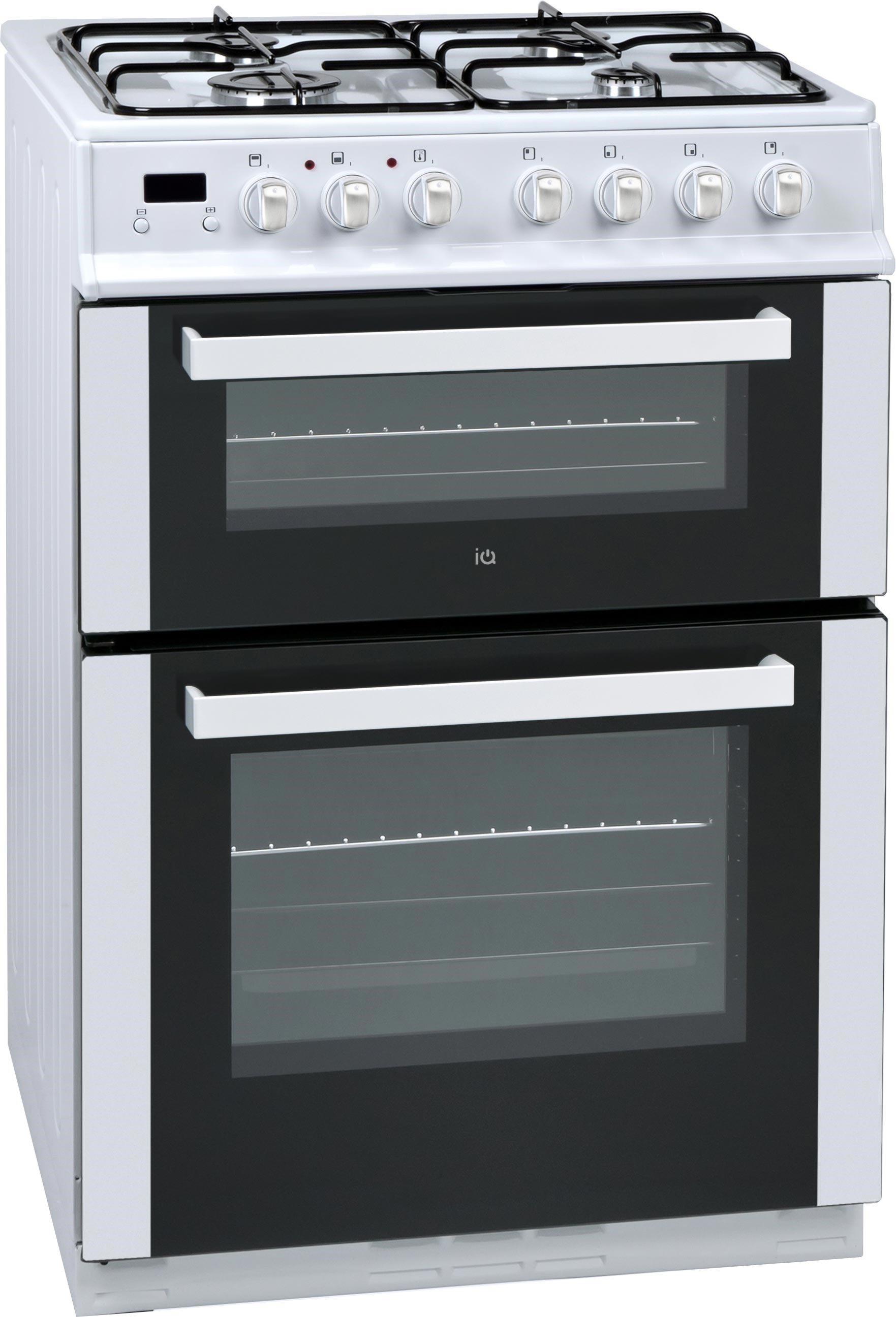 Dual fuel double oven cooker