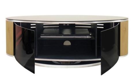 Mda Designs Luna Black And Oak Tv Cabinet Up To 50 Inch Luna Av Oak