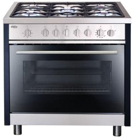 Range Cooker matrix mr311ss single oven 90cm gas range cooker stainless steel