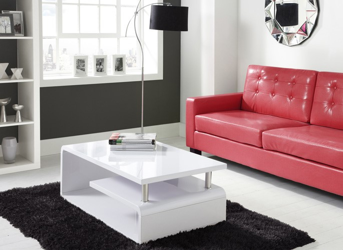 New High Quality White High Gloss Coffee Table Modern