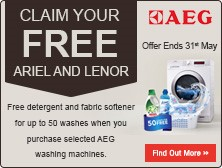 Wash For Free With AEG and Lenor