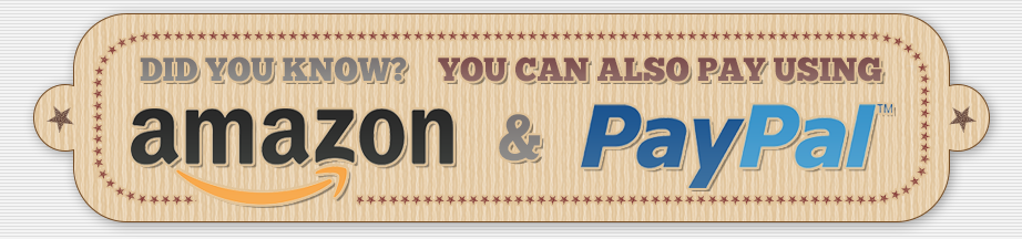 We accept Amazon and PayPal payments