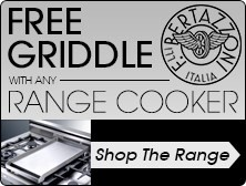 Free Griddle with a Bertazzoni Range Cooker