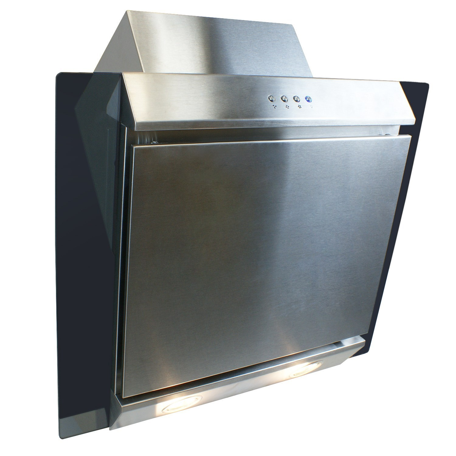 ElectriQ 60cm Stainless Steel Angled Glass Chimney Cooker