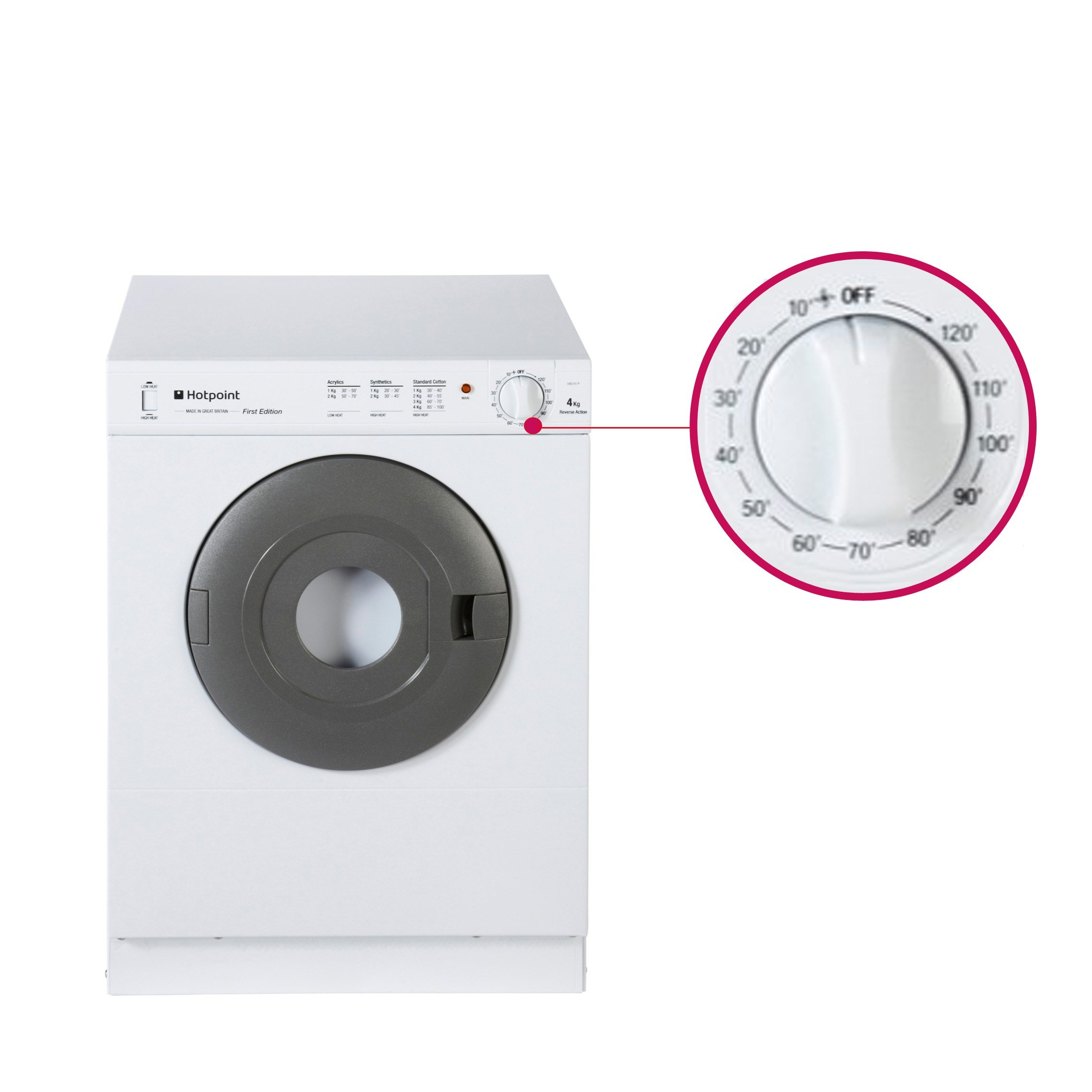 Grade a2 hotpoint v4d01p 4kg small vented tumble dryer white 77363980 1 v4d01p ebay - Tumble dryer for small space pict ...