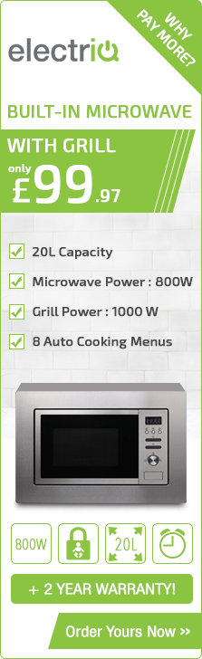 ElectrIQ 20L Built-in Digital Microwave with Grill