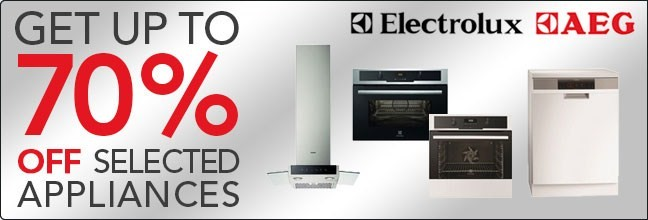 Up to 70% off AEG and Electrolux Appliances