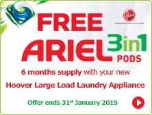 Hoover Free Ariel Offer