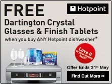 Free Dartington Crystal Glass and Washing Tablet