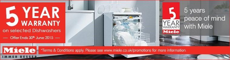 Miele Dishwashers 5 Year Warranty