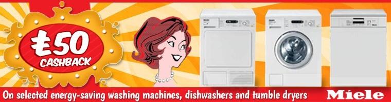 Miele energy saving washing machines Cashback Promotion