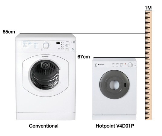 hotpoint v4d01p 4kg compact vented tumble dryer white appliances direct