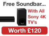 Free Soundbar with Sony 4k TV