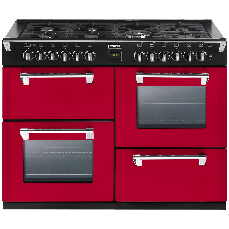 Stoves Richmond 1000DFT Colour Boutique 100cm Dual Fuel Range Cooker in Hot Jalapeno