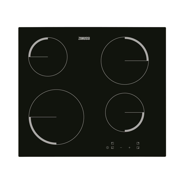Zanussi ZEV6240FBA Touch Control Four Zone Ceramic Hob  Black