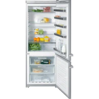 Miele KFN12943SDedtcs 202x75cm Freestanding Fridge Freezer with CleanSteel Doors