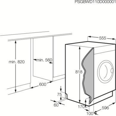 Electrolux EWG127410W Built in Washing Machine 'A++' Rated