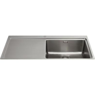 CDA KVF21LSS Designer Single Extra Large Bowl Sink Flush Fit - Left Bowl