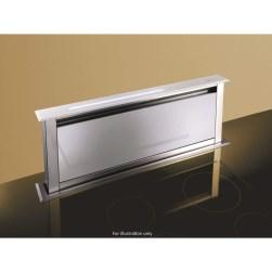 Best HOOD-BE-LI-60-WH Lift 60cm Downdraft Extractor - White Glass