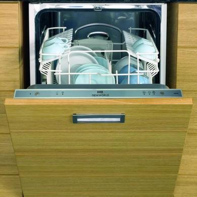 New World DW45 Mk2 Sliimline Fully Integrated Dishwasher