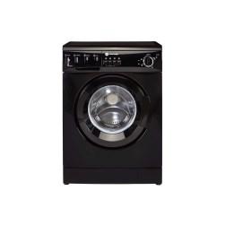 White Knight WM126VB Freestanding Washing Machine 6kg 1200rpm Black